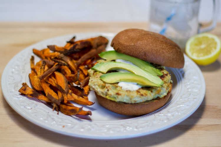 Chicken Avocado Burgers with Plated