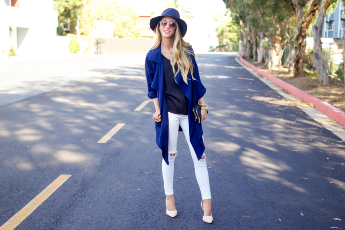 Closet Revamp Tip #1 for Fall + Navy Trench Coat