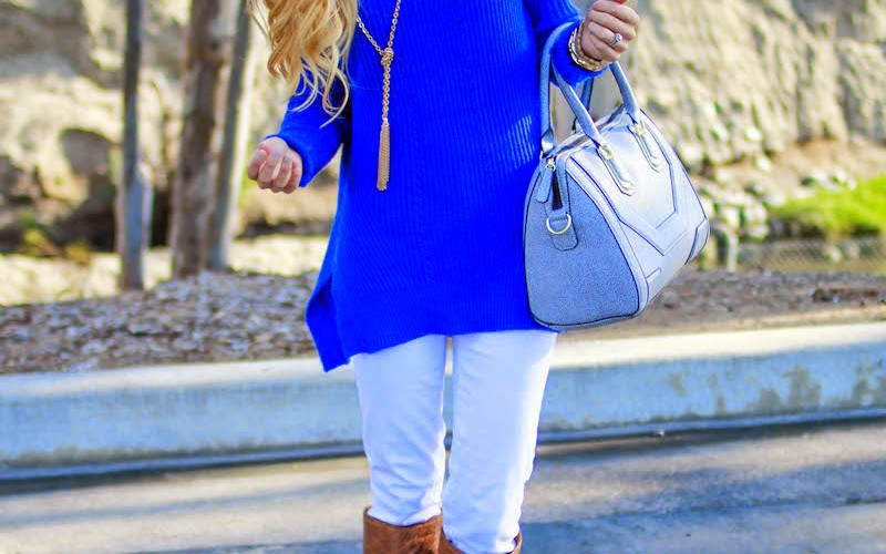 Blue & Winter White