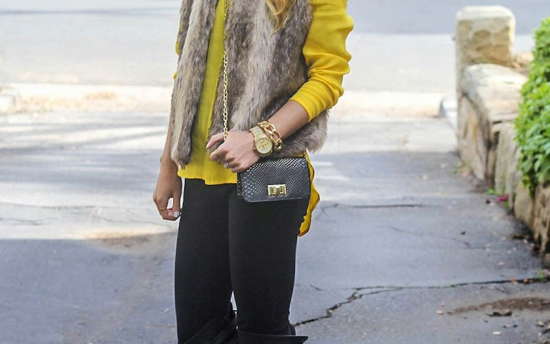 Faux Fur + Yellow