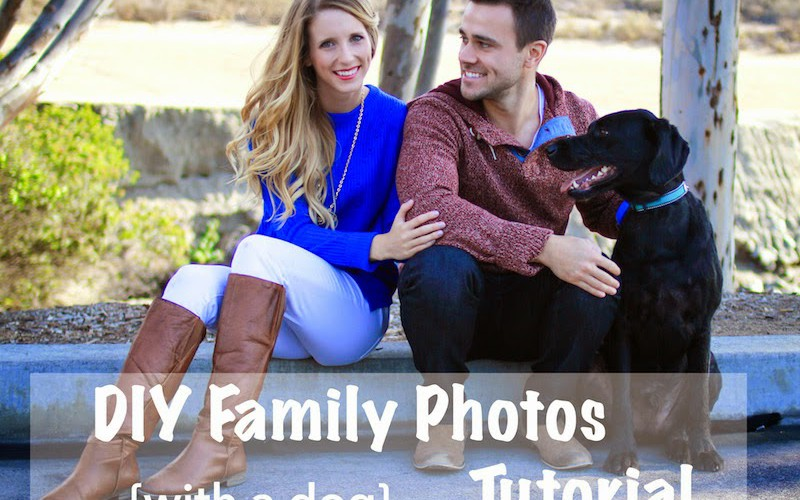 DIY Family Photos {with a dog} Tutorial