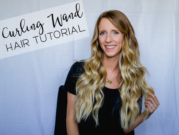 Curling wand hair tutorial
