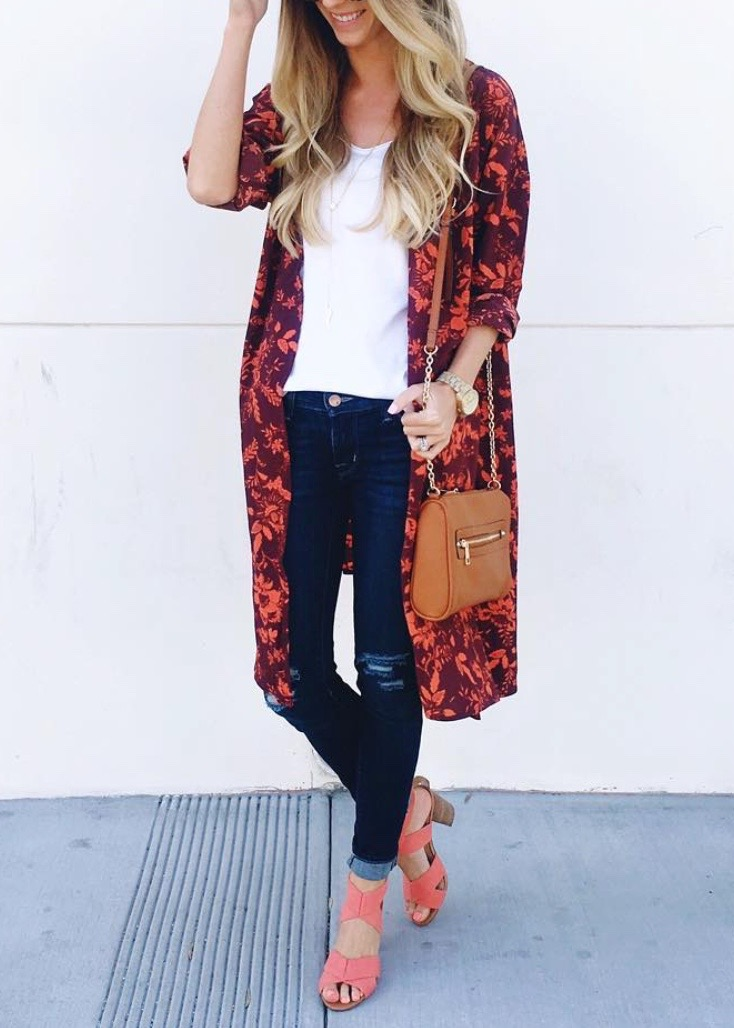 kimono and sandals for spring