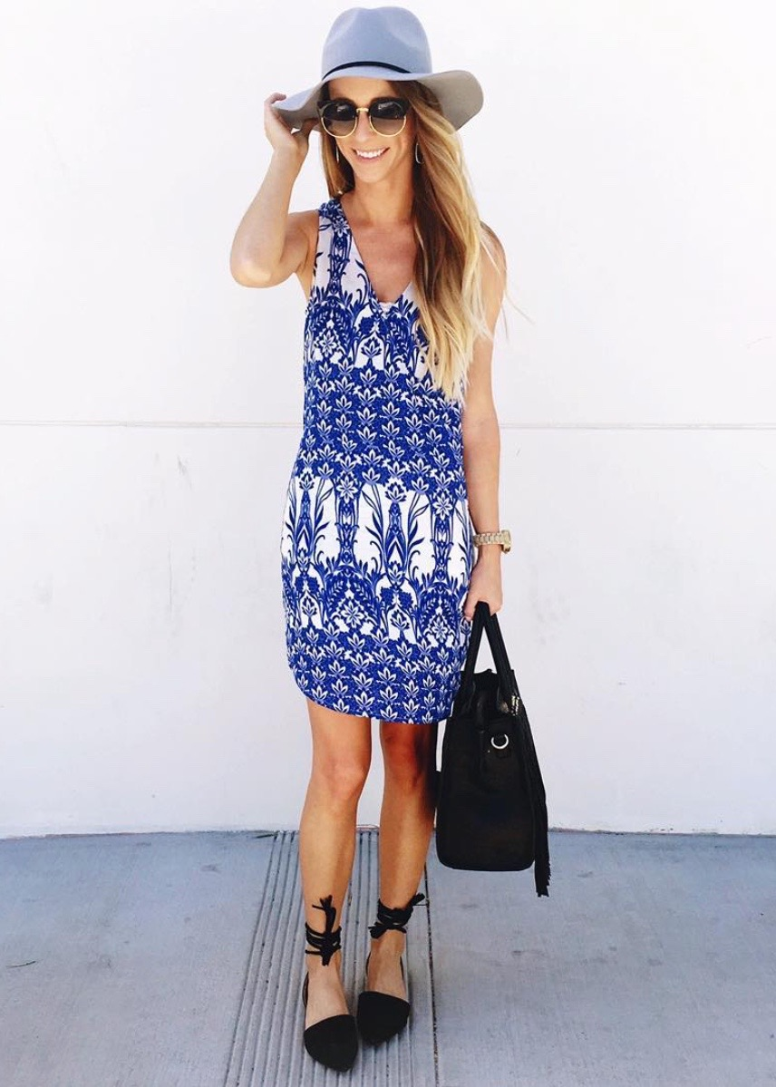 blue dress for spring
