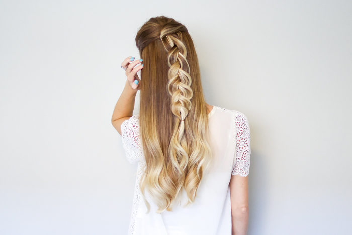 Half Up Simple Braid Hair Tutorial