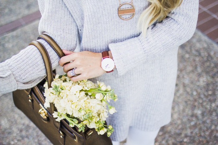 Sweater, Watch, Flowers