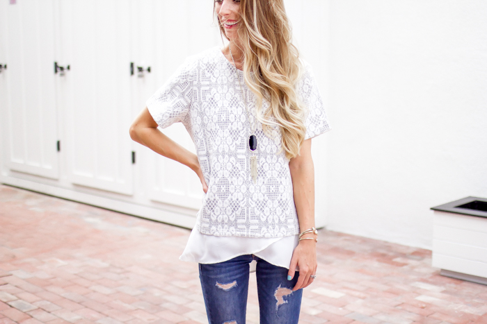 Lace and Ruffles Top || Date Night Look