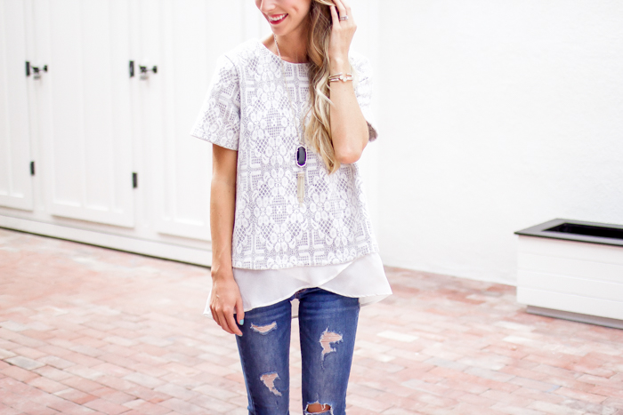 Lace and Ruffles Top