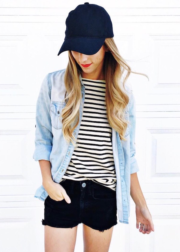 Stripes and Chambray Outfit