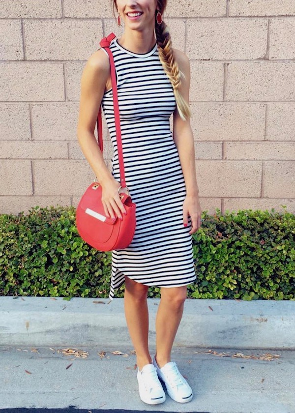 Striped Bodycon Dress Outfit