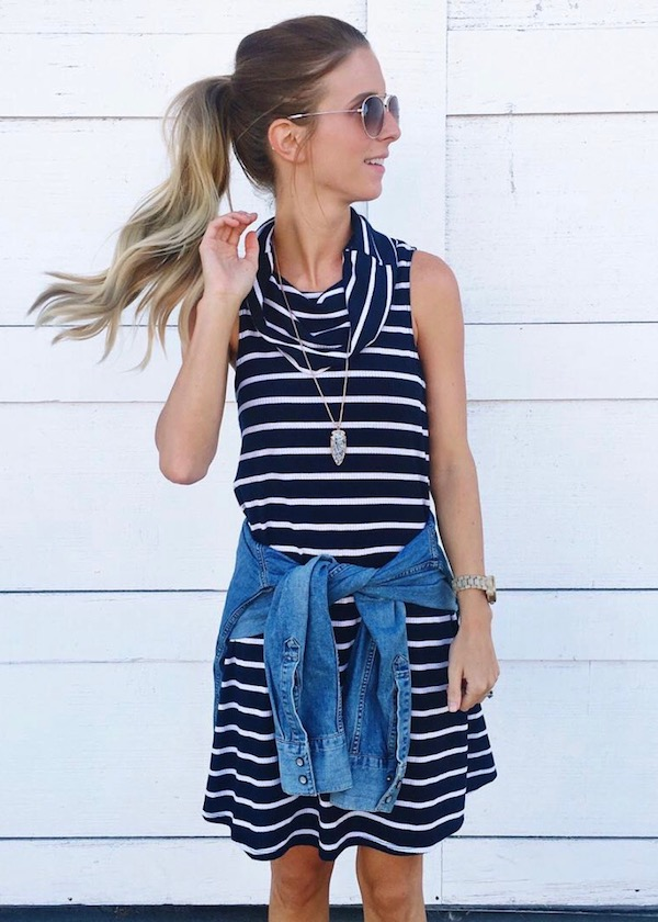 Striped Dress and Chambray