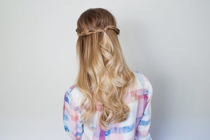 Half Up Braided Topsy Tail Tutorial