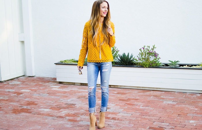 5 Ways to Save Money + Yellow Lace Top