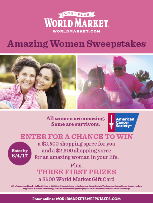 World Market Amazing Women Sweepstakes
