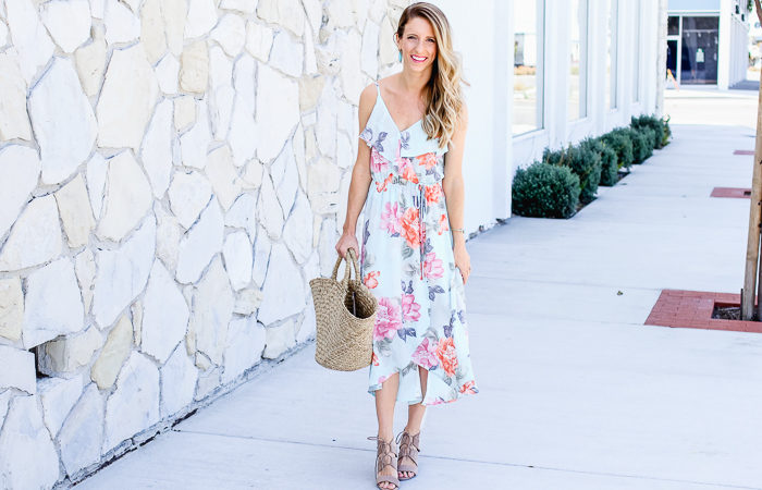 Floral Midi Dress + Nordstrom Half Yearly Sale